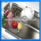 Hot Sale stainless steel folding draining rack/sink rack
