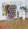 X-type extendable clothes drying rack