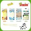 Milk long plastic candy stick