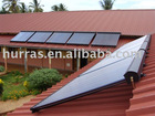 solar collector heating system