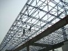 Steel frame structure roofing