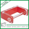 transparent red acrylic bathroom accessories set