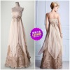 Romantic Design Exquisite Appliqued Chiffon Elegant Sheath Dresses For Prom