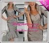 charming short Fashionable Ruffle taffeta mother bridal dress