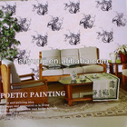PVC China Style Wallpaper,Elegent China Style Wallpaper for Room Decoration