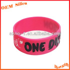 2013 NEW ! Logo engraved with color filled / debossed with color customized inch silicone rubber band