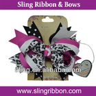 Trendy Boutique Leopard Funky Baby Headband or Hair Bow