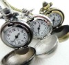 07 wholesale Antique brass bronze pocket watch chain charm pendant watch necklace nickel free lead free