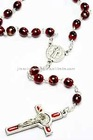 rosary necklace with enamel crucifix pendant