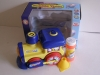 Battery operated bubble car with music and light