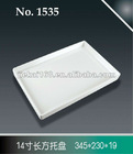 100% white melamine food tray