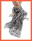 2011 polka dot scarf for lady with shining looking