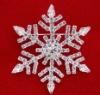 colored rhinestone heart christmas brooch