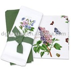100% cotton table cloth designs with butterfly