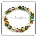 Silver Foil Glass Beaded Bracelet