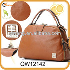 women's designer plain color leather winter tote bags