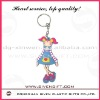 pretty girl soft pvc key chain for promotion gifts