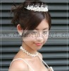 2012 Fashion Trendy Acrylic Pearl Crown Bridal Headdress