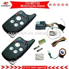 Economical Model!Two way motorcycle alarm with color LED indicators,learning code,433mhz,back up battery