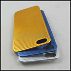 Wholesale New 0.3mm Ultrathin Titanium Mesh Metal Back Snap-on Case Cover for Apple iPhone 5 Generation