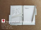 Aluminum Note book/Card Holder With Notes &Pen PromotionalTCH010(110*83*8mm)