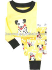 100% cotton girls Pajamas suits set underwear outfit long jumpers baby tee shirts tight top pant kids t-shirt