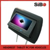 """7"""" Touch Screen Headrest Car Tablet PC For Taxis, Buses, Limos"""