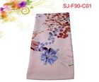 Square satin scarf with beautiful pattern ,90*90cm