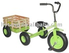 kids/children ride on tricycle toy trailer green/TC1803F