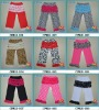 Multicolor Cotton Pants With Ruffles For Baby