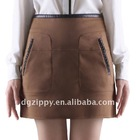 2012 newest Europe pu joining-together pocket skirts