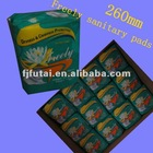 260MM Regular daily use sanitary pads for ladies