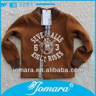 Cardigan kids 100% cotton wholesale hoodie sweatshirt