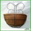 semi round Wire Wall Basket with Coconut Liner