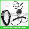 With replaceable tube throat microphone for Icom wireless radio IC-F3 IC-F3S IC-F4 IC-F4S