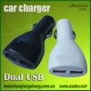 for mobile phone car battery charger with 2 USB port