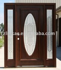 solid Mahogany wood exterior entry front doors