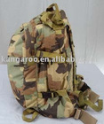Nylon jungle camouflage print military backpack