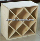 solid wooden stackable wine rack, solid pine,Xs design, clear lacquered,fixable and flexible