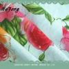 printed linen rayon fabric for garment ,flax fabric,