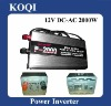 Modified sine wave 12V/24V -220V/110V Car Power Inverter 2000w with Charger Function (P-2000C)