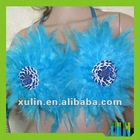 2012 fashion Feather Bra, feather performance clothing LFC02