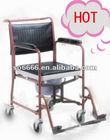 HOT SALE Economy Chromed Steel Commode Wheelchair