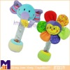 Rain maker grip n' rattle pal,baby teeth rattle toys,rattle toys plush with beans