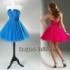 P12116 Strapless ColofulMini Cocktail Dresses With Fluffy Tulle Skirt/Fashion Prom Dresses 2012
