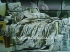 100% polyester printed imitated silk(faux silk) comforter set