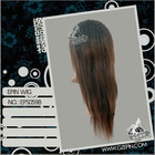 Synthetic and human hair mix lace wig EPS059