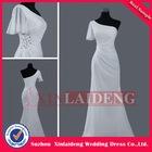 EVD226 simple modern american one sleeve sheath evening dress apparel