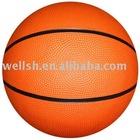 size 7 natural rubber basketball,orange colour