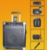 high-output powered wireless portable 2-way speaker system